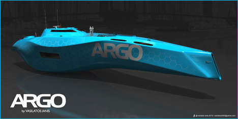 Sleek Sculpted Luxury Ships - The Argo Yacht Concept Imagines a Vessel for Speed and Comfort