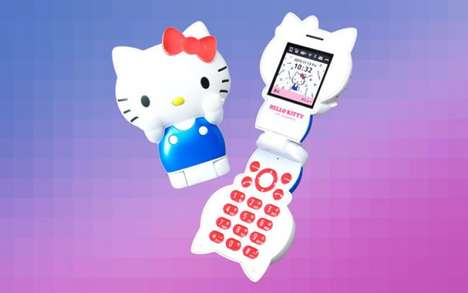 Iconic Feline Cell Phones - The Hello Kitty Flip Phone Takes Consumers Back to the 90s