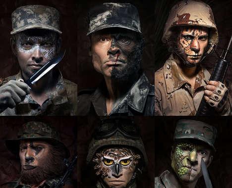 Animalistic Soldier Portraits