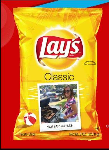 Personalized Chip Bag Designs - The LAY'S Summer Days Campaign Let Consumers Personalize Their Chips