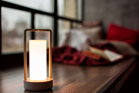Customizable Bluetooth Lamps - The 'Fotogen' Lantern Provides Wireless Illumination and Much More