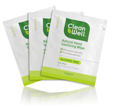 Pocket-Friendly Personal Wipes - CleanWell Individual Hand Wipes Make On-the-Go Cleanliness Easy
