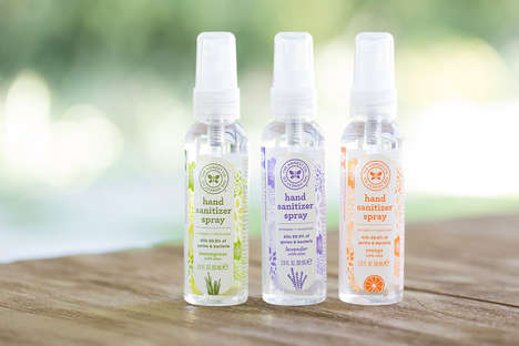 Moisturizing Sanitary Hand Sprays - The Honest Company Hand Disinfectant Spray is Multipurpose