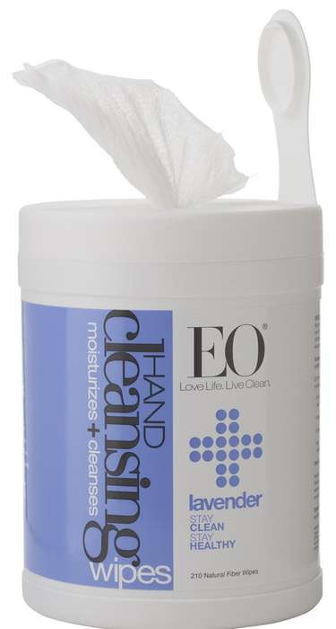Floral Cleansing Wipes - The EO Lavender Sanitizer Wipes Won't Harm the Environment When Discarded