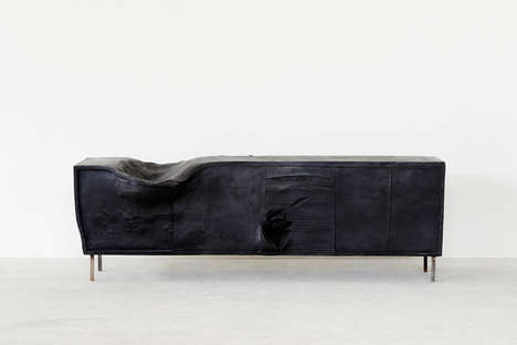 Distorted Living Room Furniture - Erwin Wurm Gives Everyday Furniture Dysmorphic Makeovers