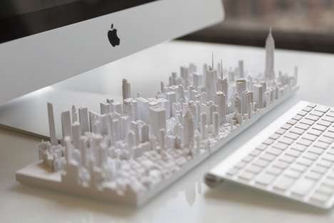 Meticulate Manhattan Models - These Models Of Manhattan Were Made Using Detailed Aerial Scans