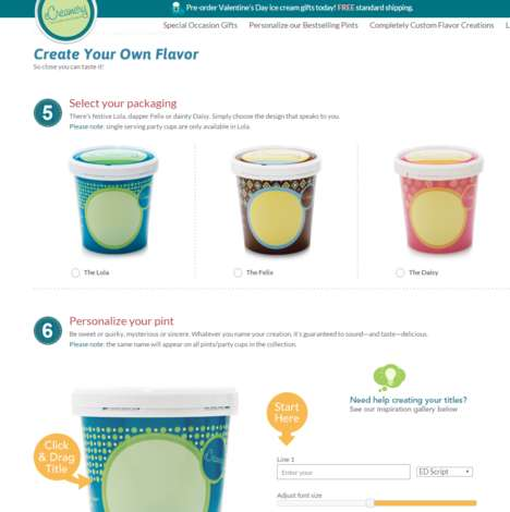 Personalized Frozen Desserts - eCreamery's Online Tool Helps You Create Your Own Ice Cream