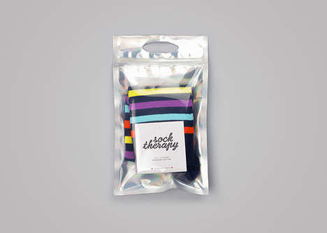 Recyclable Sock Packaging - Sock Therapy's Transparent Pouches are Portable and Practical
