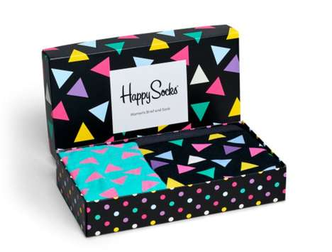 Vibrant Underwear Packaging - Happy Socks' Gift Packs are Artful and Eco-Friendly