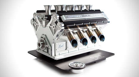 Engine Espresso Machines - The Espresso Veloce Titanio Machine Brews Multiple Coffees at Once