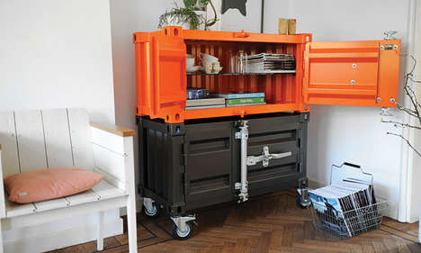 Shipping Container Cupboards - The Pandora Cabinets Creatively Upcycle Freight Boxes into Furniture