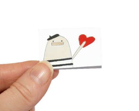 Tiny Valentine's Day Cards - Kim Smith Creates a Series of Small Cards with Big Hearts