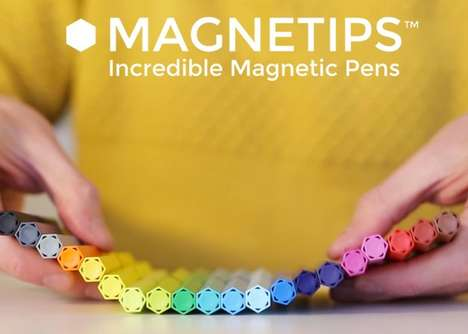 Magnetic Writing Utensils - 'MAGNETIPS' Fineliner Pens Offer Precision Results in a Fun Manner