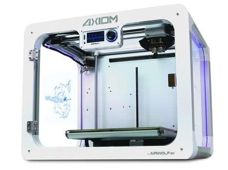 Upgraded Extruder 3D Printers - The Airwolf 3D Axiom 3D Printer is Upgraded with Fast Dual Extruders