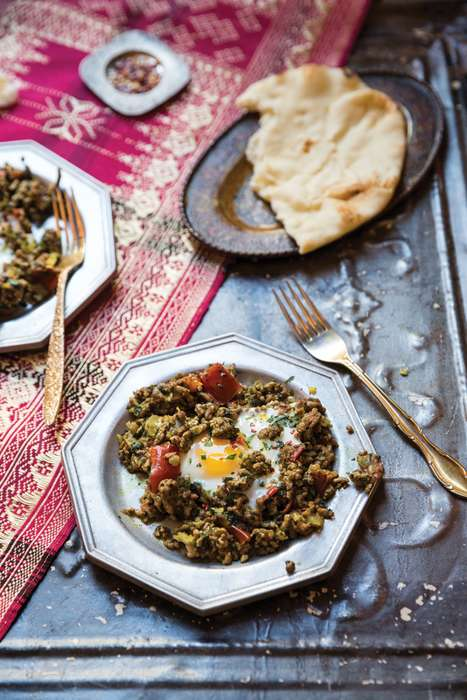 Babylonian Egg Breakfasts - Makhlama Lahm is an Iraqi Egg Dish Made with Lamb and Tomatoes