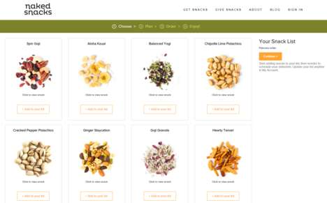 Tailored Snack Subscriptions - 'Naked Snacks' Features Personalize Snack Subscription Box Orders