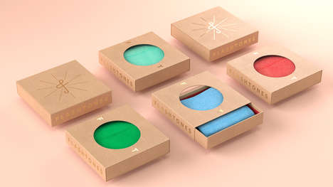 Singular Sock Boxes - Flashtones' Sustainable Accessory Packaging Makes Cardboard Artful