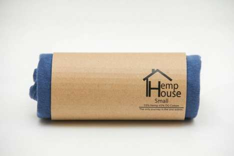 Wrapped Hemp Tee Packaging - Hemp House Clothing Uses Eco-Friendly Sleeves for Their Line of Tees