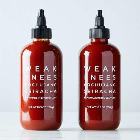 Gourmet Sriracha Blends - The Weak Knees Gochujang Sriracha Two-Pack is for Spice Lovers