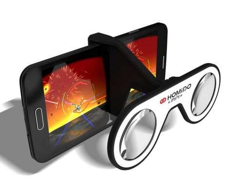 Folding Virtual Reality Glasses - The Homido Mini Glasses Make Smart Eyewear Compact