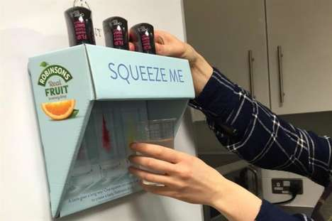 In-Office Water Flavoring Stations - Flavoring Brand Robinsons Has Introduced the 'Squeeze Me' Kiosk