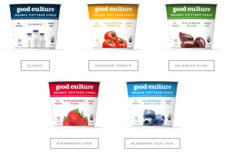 Organic Cottage Cheese Cups - These Flavored Cottage Cheese Cups are Made from Organic Ingredients