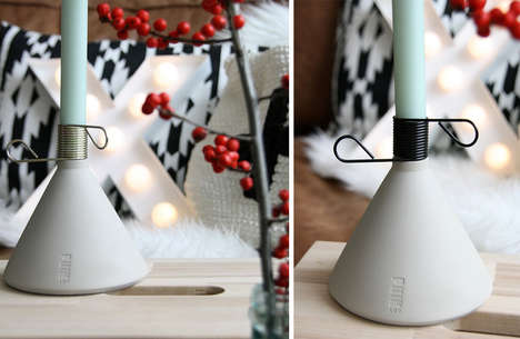 Scandinavian Candle Holders - Puik Art Designs a Modern Piece of Decor that Encourages Candle Use