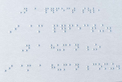 Beautiful Braille Fonts - Deon Staffelbach Focuses on Bringing the Art of Typography to the Blind