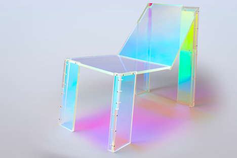 Musician-Inspired Acrylic Chairs - This Unusual Acrylic Chair Was Inspired by French House Music