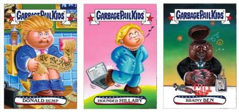 Presidential Trading Cards - These Garbage Pail Kids Cards Mock American Presidential Candidates