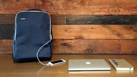Device-Charging Backpacks - This Modern Backpack Keeps Your Electronic Gadgets Juiced Up