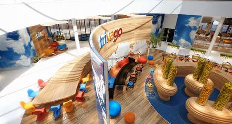 Conceptual Headquarter Campuses - Trivago's New Jelly Bean Offices Offer an Open-Concept Style