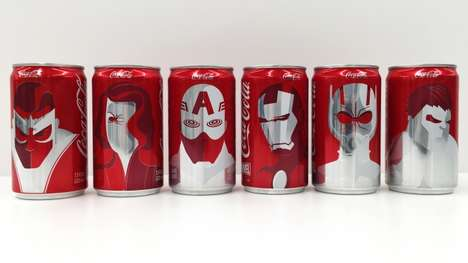 Superhero Cola Cans - Marvel Joins Forces with Coca-Cola to Bring Heroic Cans to Super Bowl 50