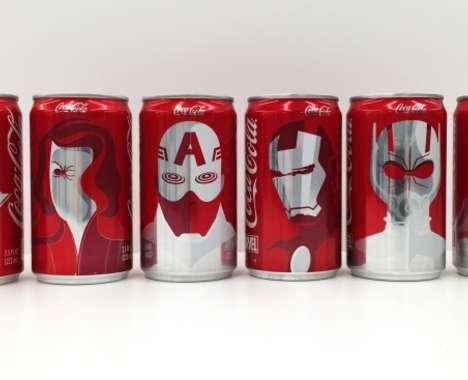 Superhero Cola Cans