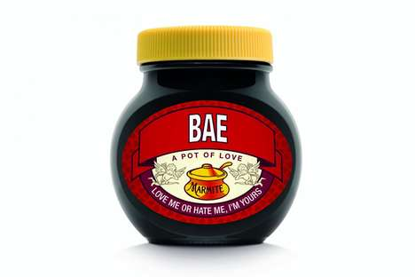Personalized Valentine's Day Spreads - These Personalized Marmite Jars Make a Tasty Valentine's Gift