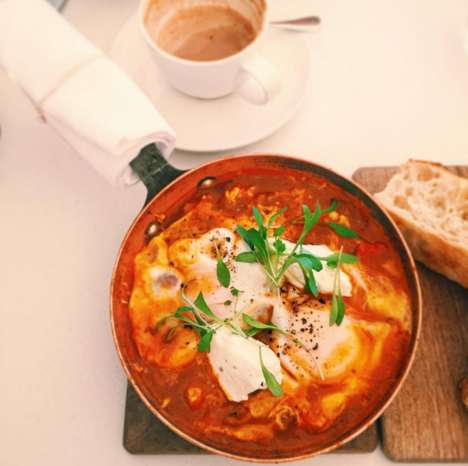 Mediterranean Egg Bowls - This Eatery Serves 'Shakshuka,' an Egg, Cheese and Tomato Breakfast