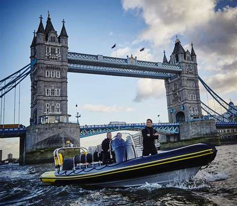 Branded Powerboat Promotions - The New Cadbury Milk Tray Man Was Revealed in a Powerboat Stunt