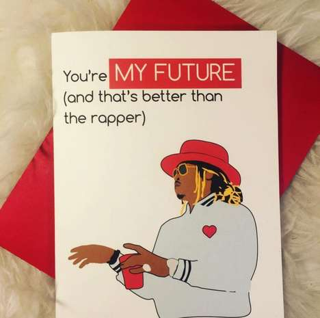 Sentimental Rapper Valentines - This Hip Hop Valentine's Day Card is Inspired by Future
