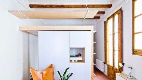 Space-Saving Apartments - 'Apartment Refurbishment' Features a Studio Space Above the Kitchen