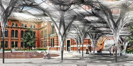 Robot-Fabricated Pavilions - This Futuristic Canopy Will Be Constructed by Robots