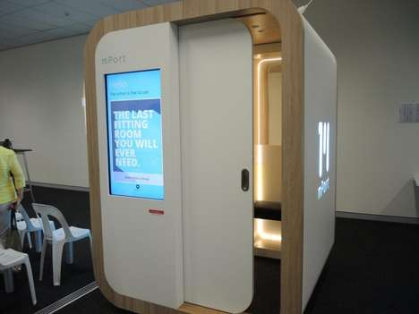 3D Body Scanning Pods - The 'mPort' is a Body Scanner That Helps Users Find the Right-sized Clothes