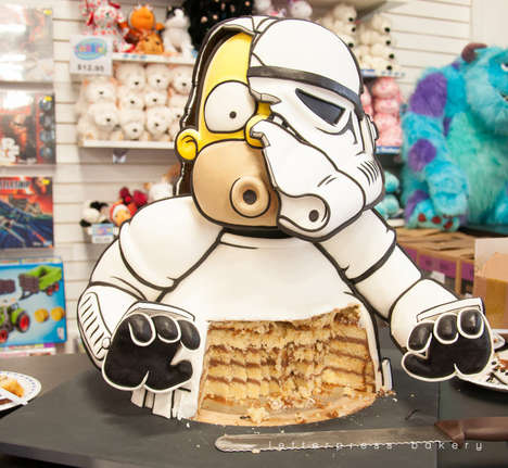 Galactic Cartoon Character Cakes - The Hormer Stormtrooper Torte Combines Two Popular Personalities