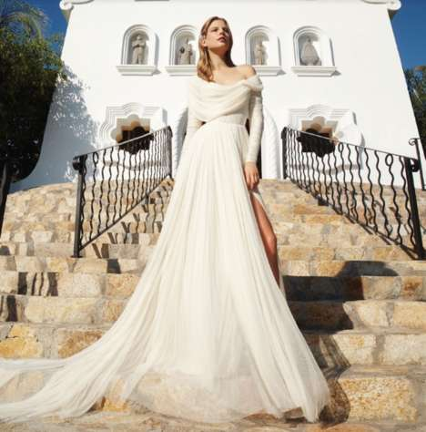 Summery Bride Editorials - The Vogue Mexico Elisabeth Erm Editorial is Perfect for Beach Weddings