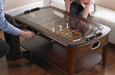The Chicago Gaming Signature Foosball Living Room Table is Game-Ready