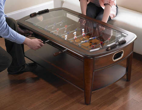 Gamer Coffee Tables - The Chicago Gaming Signature Foosball Living Room Table is Game-Ready
