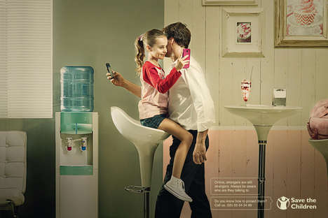 Digital Predator Ads - The Save the Children Online Campaign Addresses the Danger Social Media