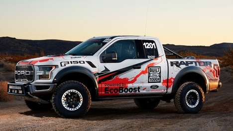 Shock-Absorbing Trucks - This Ford Raptor Race Truck Features External-Bypass Shock Absorbers