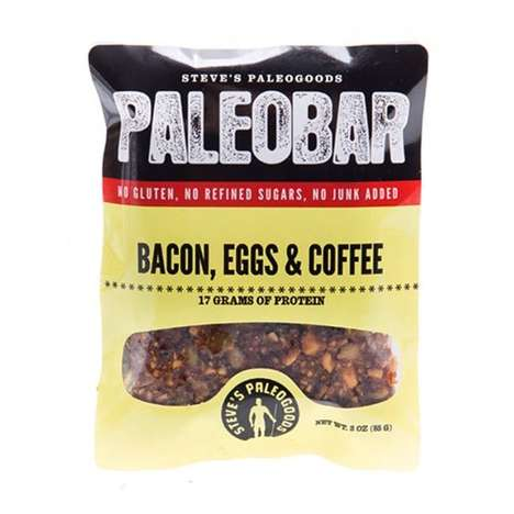 All-In-One Breakfast Bars - This Paleo Breakfast Bar Has Coffee, Egg and Bacon Ingredients