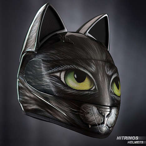 Feline Motorcycle Helmets - These Protective Wearables Feature Tiny Cat Ears for Added Playfulness