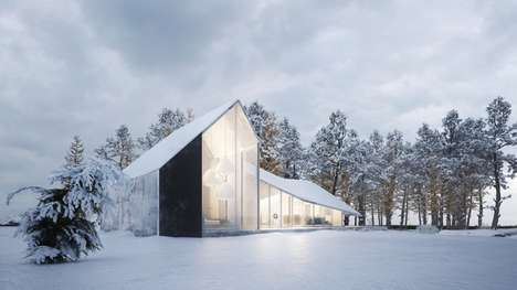 Iceberg-Inspired Residences - Sergey Makhno Architects' Winter House Boasts Angular Design Details